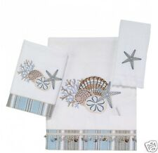 Avanti By The Sea 3 Piece Bath Towel, Hand Towel and Fingertip Towel Set White