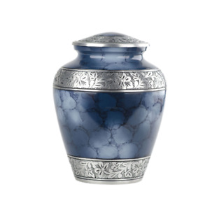 Adult Urn Cremation Urn for Human Ashes Blue Fire Urn Pet Urns Cemetry Funeral