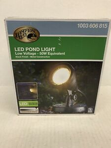 Hampton Bay 1-Light Integrated LED Black Low Voltage Pond Light-W57-58