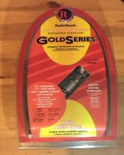 Radio Shack Gold Series 12ft 3.6m Mono Audio Cable Male to Male RCA  150-3012