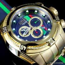 Invicta Reserve Bolt Zeus S1 Corredor Gris Cuero 52mm Suizo Oro Chapado Reloj De