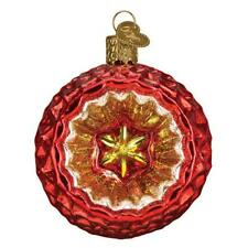 Faceted Crimson Red Reflection Old World Christmas Glass Ornament Nwt 51502