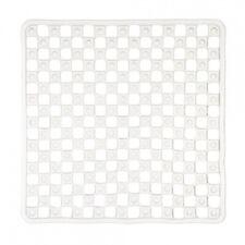 Clear Transparent Shower Mat 52x52x0.5cm Strong Suction Caps,Drain Holes