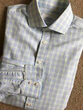 """Charles Tyrwhitt Mens Regular Fit Blue Check Shirt 16"""""""