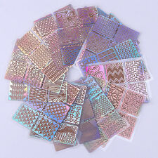 24 Sheets Nail Art Transfer Stickers 3D Manicure Tips DIY Decal Decorations Tool