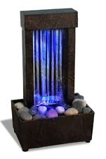 Changing LED Lights Indoor Tabletop Water Fountain Waterfall Zen Relaxation New