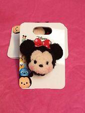 Disney Tokyo Store TDL Tsum Tsum Minnie Mouse Plush Badge pin NOC - Authentic