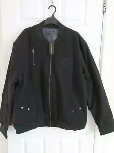 Christian Rose Men's Bomber Jacket Navy/Black Size 2XL Brand New With Tags