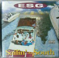 E.S.G.–Sailin' Da South -1995 CD Alb - Houston Gangsta Rap -MEGA RARE OG Press