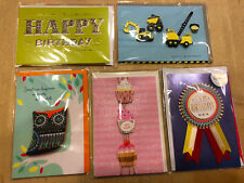 Lot of 5 Hallmark Signature Birthday Cards