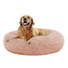 New listing Oqq Round Dog Bed Cuddler Washable Round Pet Bed for Cats and Medium Dogs Com.