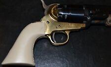 Pietta model 1851 confederate navy old style pistol grip Tan color plastic
