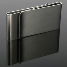 GB New Stainless Steel Silver Slim Money Clip Purse Wallet Credit Card ID Holder