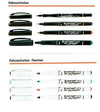 Folienschreiber Folienstift, 4 Farben S M F B permanent wasserfest wasserlöslich