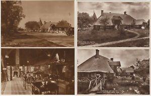 Chestfield Canterbury Kent 4 RP Postcard Views of Village & Barn Tea Rooms c1940