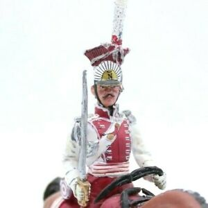 Hand-Painted Mounted Toy soldier with Artillery Napoleonic lancer de Berg 1808