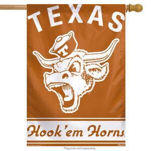 """Texas Hook'em Horns NCAA Vertical House Flag Bull Licensed  28"""" x 40"""""""