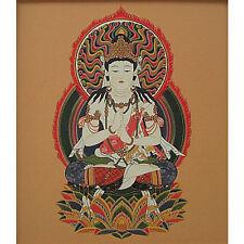 japanese shikishi dainichi nyorai/ guardian god born in Sheep and monkey year