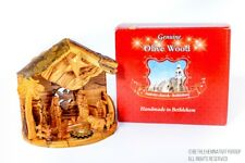 Christmas Musical Olive Wood Hand Made Nativity Set From Bethlehem,The Holy Land