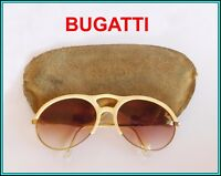 2936936474 ORIGINAL Vintage BUGATTI GOLD Plated   Horn OVAL AVIATOR Sunglasse 1980 s  FRANCE