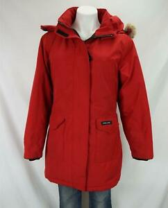 Canada Goose Arctic Program Fur Hooded Parka Coat Red Women's Large