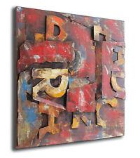 Letras Diseñador Relieve Cuadro metal 3d 120x120cm industria DISEÑO DE PARED 359