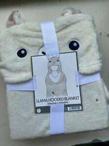 Llama Hooded Blanket - 50 x 60 inches plus Llama Head Hood