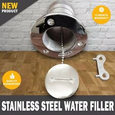 "NEW Boat Deck Fill / Filler Caravan 2"" Water Marine 316 Stainless Steel"