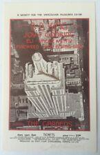 1973 Joy Of Cooking Handbill  Gardens Vancouver  Signed