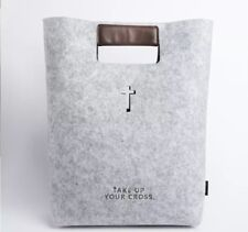 Bible Carrying Case Handbag Bible Cover Wool Felt Bag Leather Tote Women Church