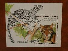 Benin 1996 Wildkatze Block gestempelt