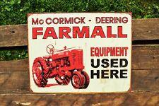 Farmall Equipment Used Here Tin Sign - M Tractor- IH - McCormick-Deering - Retro