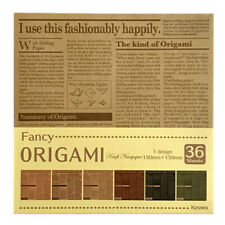 Japanese Origami Paper Craft Newspaper Design on Kraft 36p Made in Japan