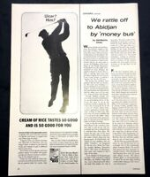 Life Magazine Ad CREAM of RICE 1964 AD