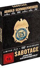 Sabotage [Blu-ray] [Limited Mediabook Edi.](FSK 18/NEU/OVP)Arnold Schwarzenegger