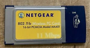 NETGEAR 802.11b Wireless PC Card Model MA401