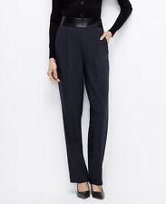 Ann Taylor - Petites 0P BLUE Faux Leather Waisted Stretch Pants $98.00 (H)
