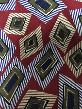 Robert Talbott Studio Tie Designer Silk Necktie Geometric Hand Sewn Made in USA