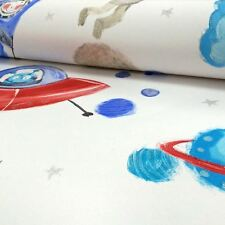 STARSHIP GLITTER WALLPAPER - WHITE - ARTHOUSE 668001 SPACE ROCKETS NEW