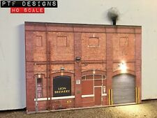 HO Scale Brewery Building Flat / Front 3D Background w/ LED, Walthers