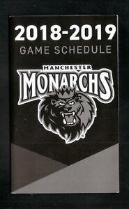 Manchester Monarchs--2018-19 Pocket Schedule--Allegra Marketing--Kings Affiliate