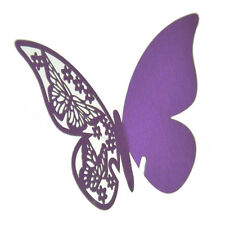 50X Table Mark Wine Glass Cards Favor Butterfly Name Place Party Wedding hcuk