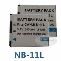 2X Battery for Canon NB-11L IXUS 132 140 245 240 145 HS PowerShot A4000 A3400 IS