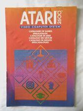 59712 Instruction Insert - Atari 2600 Catalog Of Games - Atari 2600 / 7800 (1982