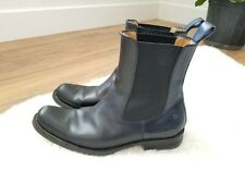 DSQUARED2 CHELSEA Pull On BLACK Leather Ankle BOOTS MENS US SZ 8.5 EU 41.5