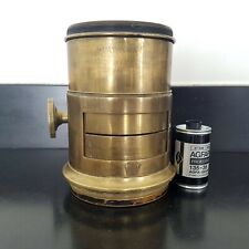 Petzval Rapid Portrait Lens 1/2 Plate fast early brass large format 4x5 5x7