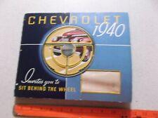 1940 Chevrolet Dealer Showroom Album 40 Chevy 75 Pages Upholstery Paint Samples