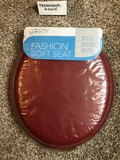 Ginsey Standard Fashion Soft Toilet Seat w/ Plastic Hinges Merlot Free Shipping