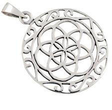 Mandala Lebensblume Silber Anhänger Blume des Lebens Esoterik Schmuck b479