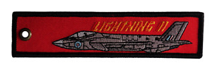 Lightning II Remove Before Flight RAF Double-Sided Embroidered Cloth Keyring